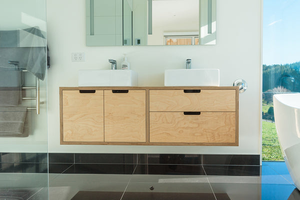Birch Plywood Vanity - Main Bathroom