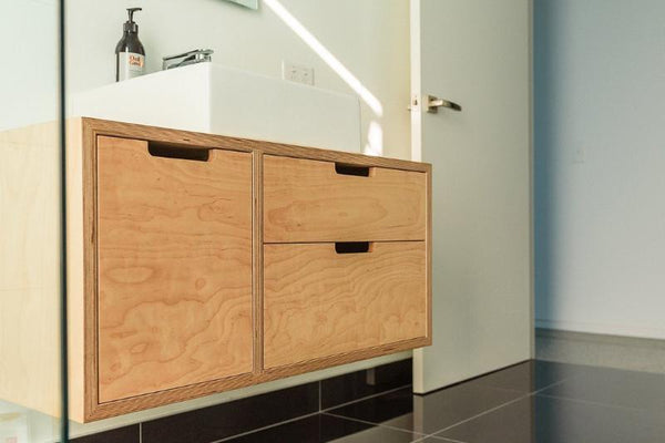 Birch Plywood Vanity - Guest Bathroom
