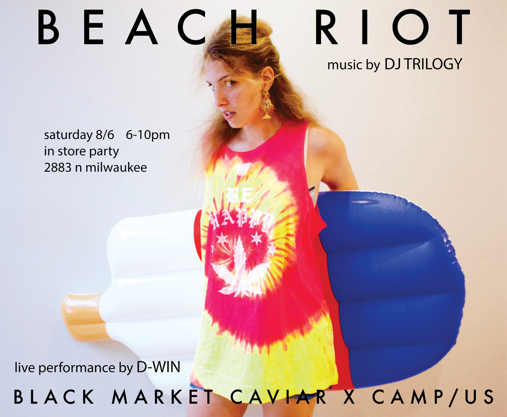 BEACH RIOT in store party