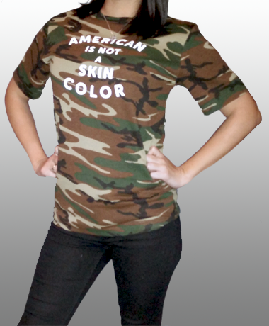 American Is Not A Skin Color Camouflage Womens
