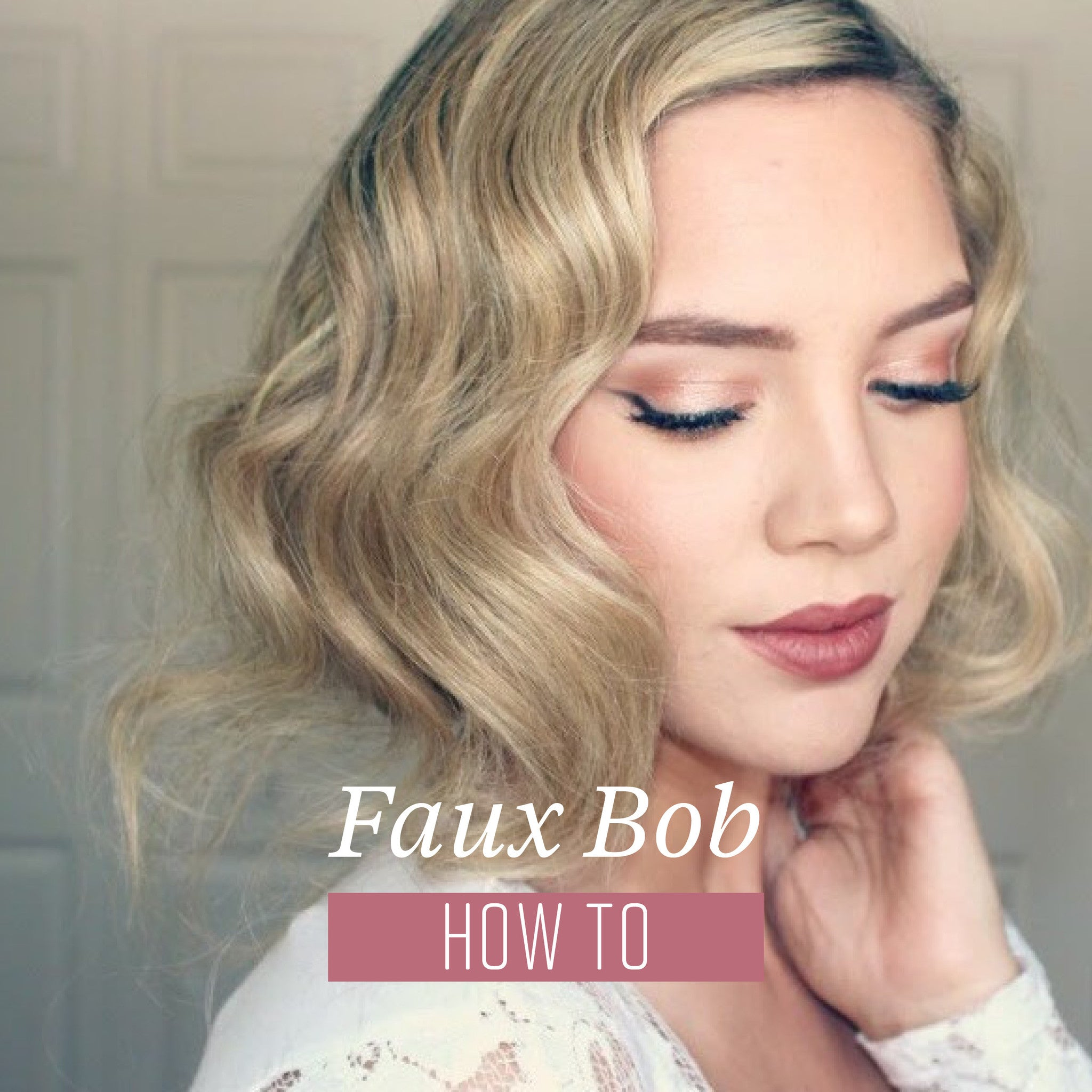 HOW TO: DIY FAUX BOB