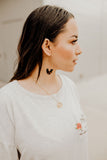 Tully Tortoise Long Hoop Earrings || Darleen Meier Jewelry