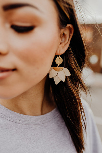Ramona Leather Petal Earrings