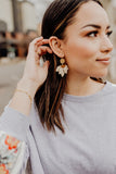 Ramona Leather Petal Earrings || Darleen Meier Jewelry