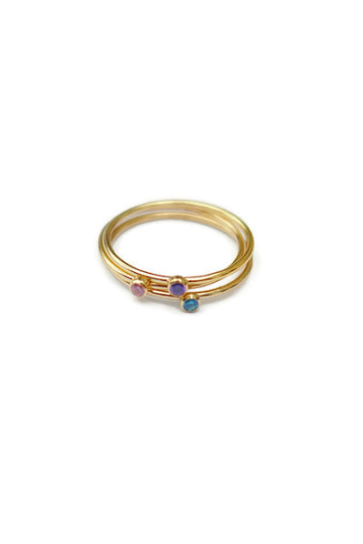 Birthstone Stacking Dainty Rings