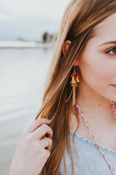 Cascading Tassel Earrings