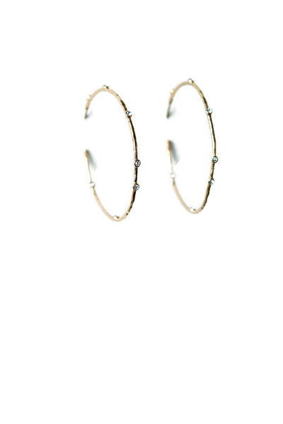 Crystal Point Hoops