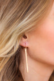 Colin Simple Gold Bar Earrings