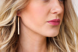 Simple Gold Bar Earrings