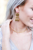 Gold Dangle Chandelier Earrings