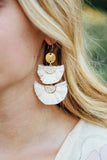 Shelly Raffia Double Fan Earrings