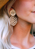 Deacon Wooden Bead Woven Earrings || Darleen Meier Jewelry
