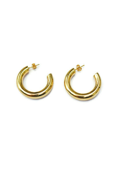 Payton Half Hoop Gold Plated Small Earrings