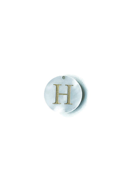 Engraved Letter Acrylic Disc Charm