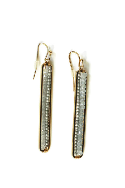 Beaded Bar Earrings