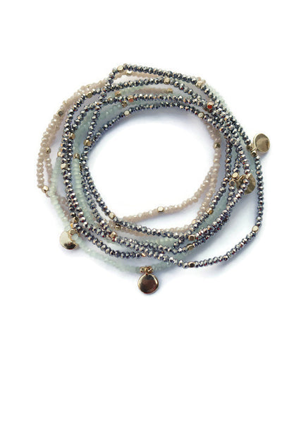 Bonnie Beaded Stretchy Stacked Bracelet or Necklace