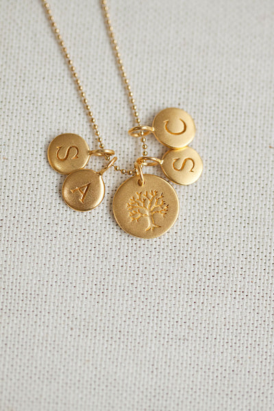 Tree of Life Personalized Necklace with Initials