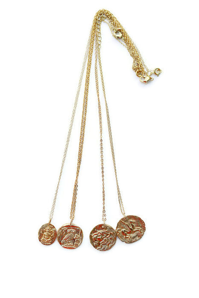 Ancient Greek Coin Charm Necklaces