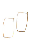 Rectangle Hoop Earrings Hand forged Hand Hammered | Darleen Meier Jewelry