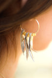 Feather Leather Tassel Earrings
