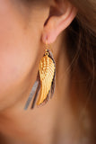 Feather Wing Leather Earrings