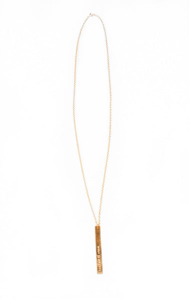 Personalize Long Bar Necklace