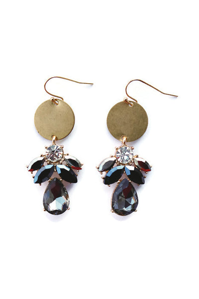 Gilly Dark Onyx Gemstone Circle Earring