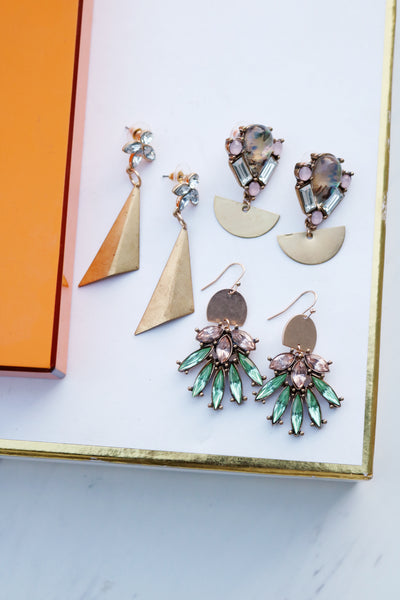 Alaina Fan Marquise Earrings
