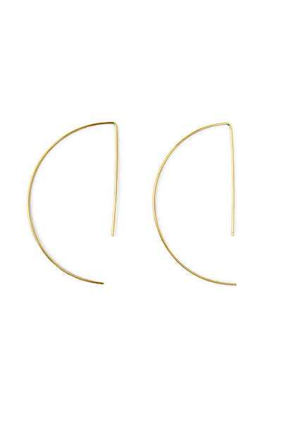 Addison Half Hoop Gold Earring