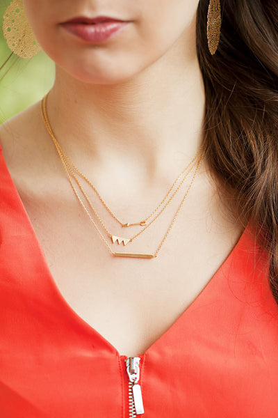 Tiny Gold Arrow Necklace
