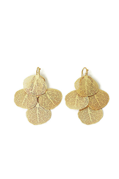 Leaf Shape Chandelier Earrings