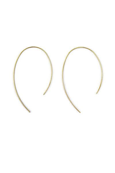 Marge Curve Hoop Gold Earrings