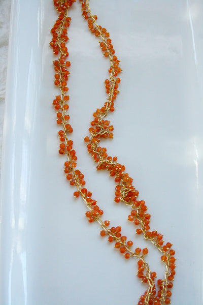 Long Beaded Handmade Necklace