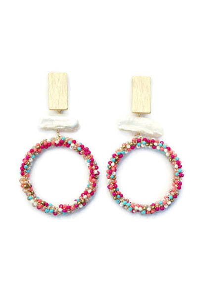 BEA CIRCLE DANGLE EARRINGS