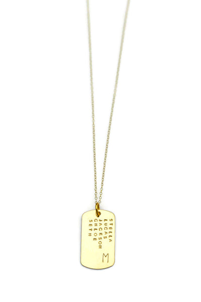 Personalized Dog Tag Gold Filled Necklace