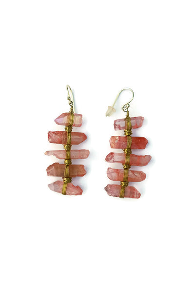 Jilly Quartz Ladder Earrings