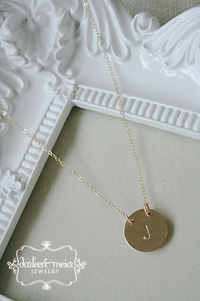 Initial Necklace - Gold Filled