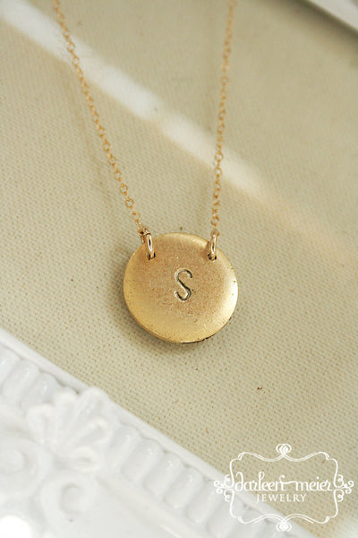 Initial Necklace - Brass