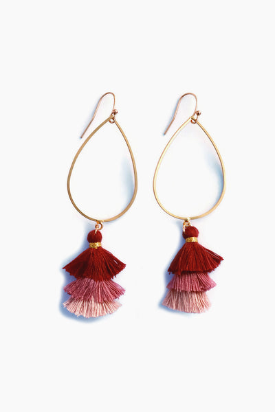 Ombre Tiered Tassel Earrings