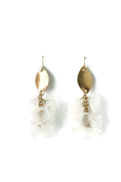 Tina Clear Acrylic Flower Drop Earrings