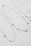Gold Tiny Letter Necklace || Darleen Meier Jewelry