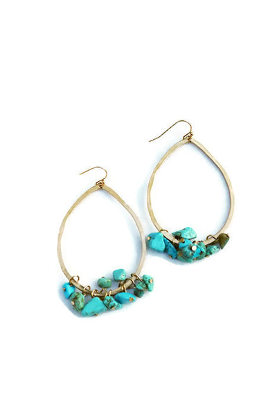Turquoise Large Drop Earrings