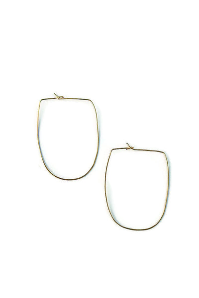 Half Circle Hoop Earrings