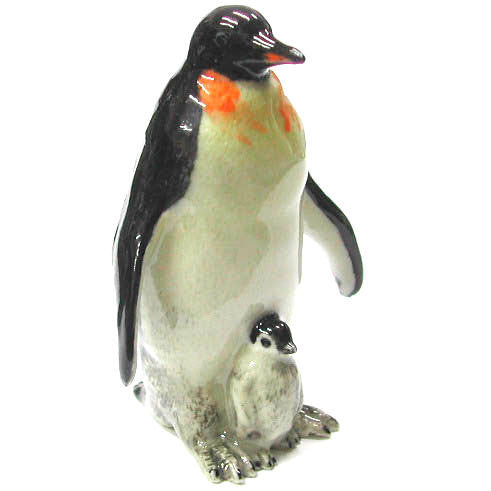 "Mom and Baby Penguin Figurine  (1 1/2"" tall)"