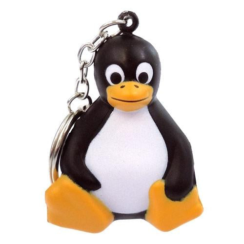 Tux sitting stress penguin key chain keychain
