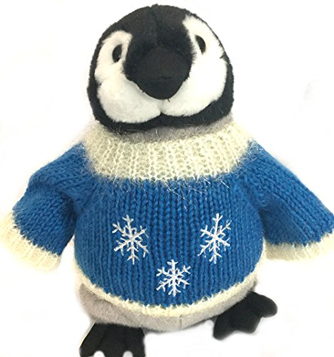 "Snowflakes Sweater Penguin Holiday Plush (10"" Tall)"