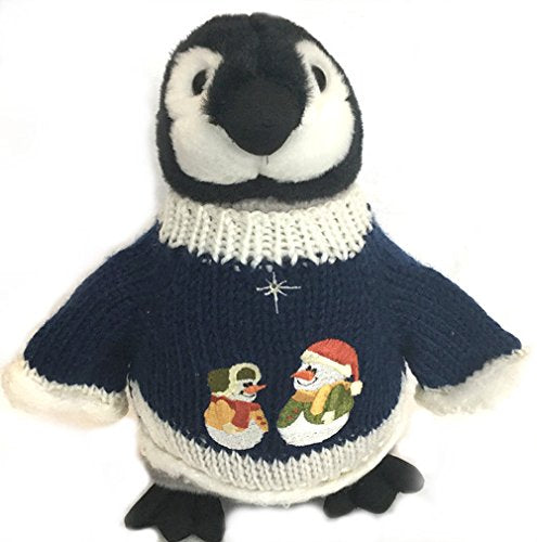 "Mr. & Mrs. Snowman Penguin Plush (10"" Tall)"
