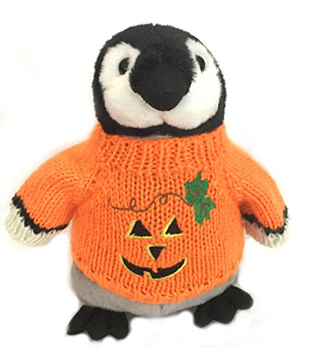 Penguin Plush Halloween Pumpkin Stuffed Animal
