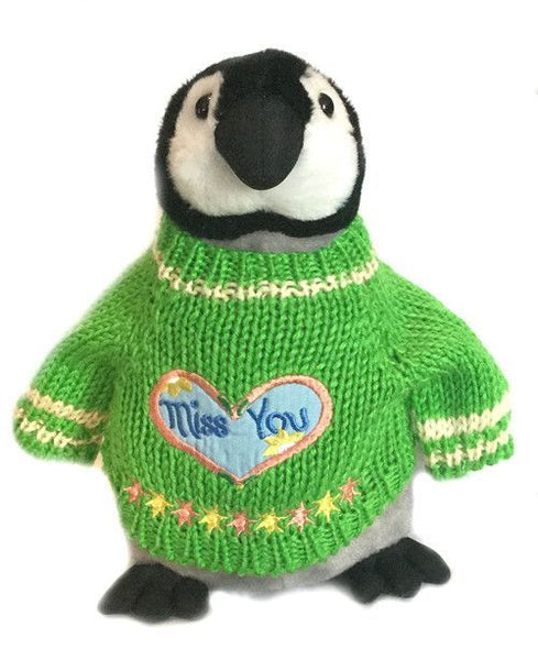 "Miss You -  Penguin Plush (10"" Tall)"