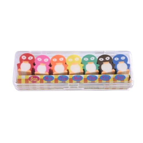 Penguins Of The Week Erasers (set of 7)